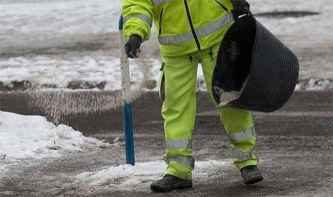 sal carreteras hielo